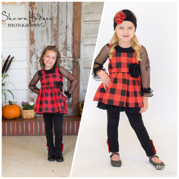 2018 Fall Serendipity Lumber JaneDress W/Legging - JEN'S KIDS BOUTIQUE