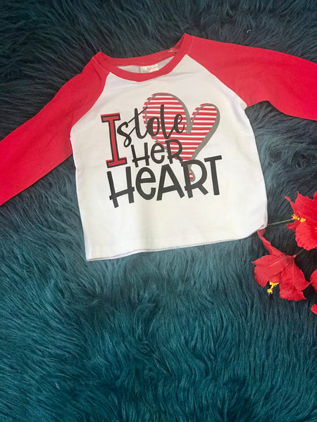 Valentines Boys I Store Her Heart Shirt - JEN'S KIDS BOUTIQUE