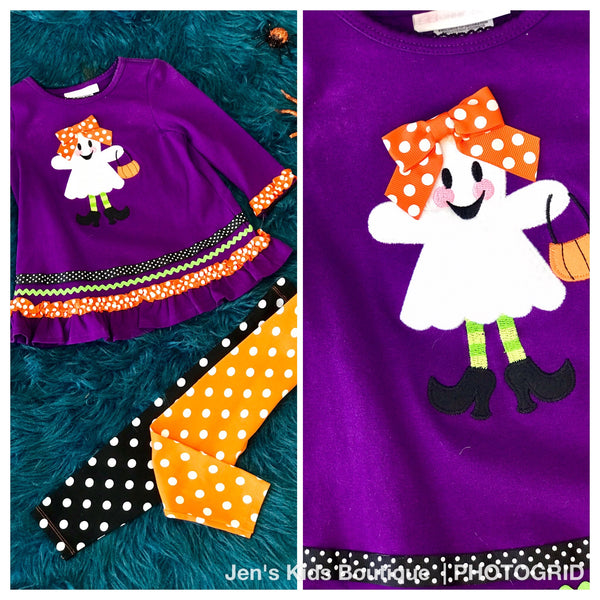 Bonnie Jean Halloween Friendly Ghost Pant Set - JEN'S KIDS BOUTIQUE