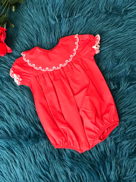 Love Me Red Infant Romper CH - JEN'S KIDS BOUTIQUE