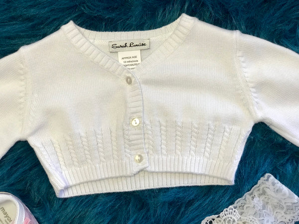 2018 Sara Louise Off White Crochet Sweater - JEN'S KIDS BOUTIQUE