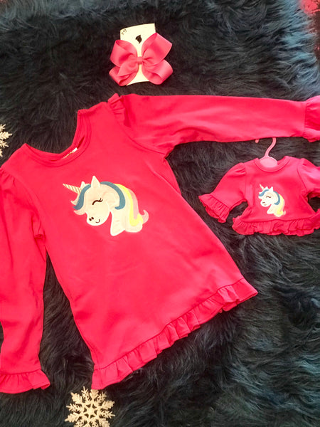 Dolly & Me Unicorn Shirt Set - JEN'S KIDS BOUTIQUE