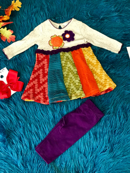 Beautiful Multi Fall Infant Legging Set CH - JEN'S KIDS BOUTIQUE