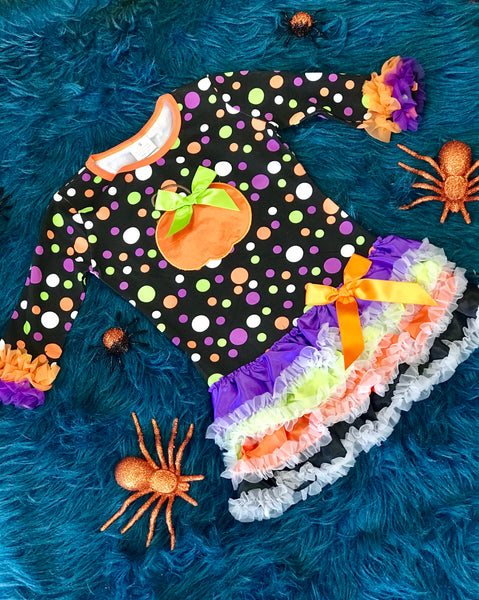 Princess Halloween Polka Dot Dress - JEN'S KIDS BOUTIQUE