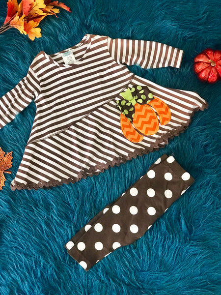 Peaches and Cream Fun Pumpkin Set - JEN'S KIDS BOUTIQUE