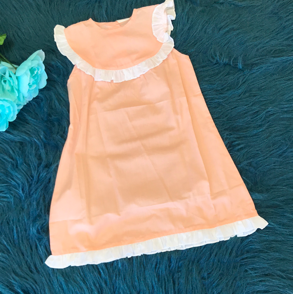 Peach Dress w/ White Ruffles CLS