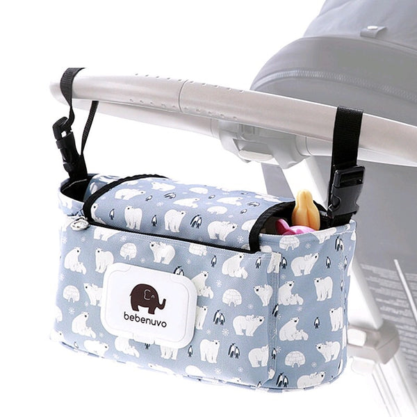 Mommy Stroller Organizer & Diaper Bag Polar Bear - JEN'S KIDS BOUTIQUE