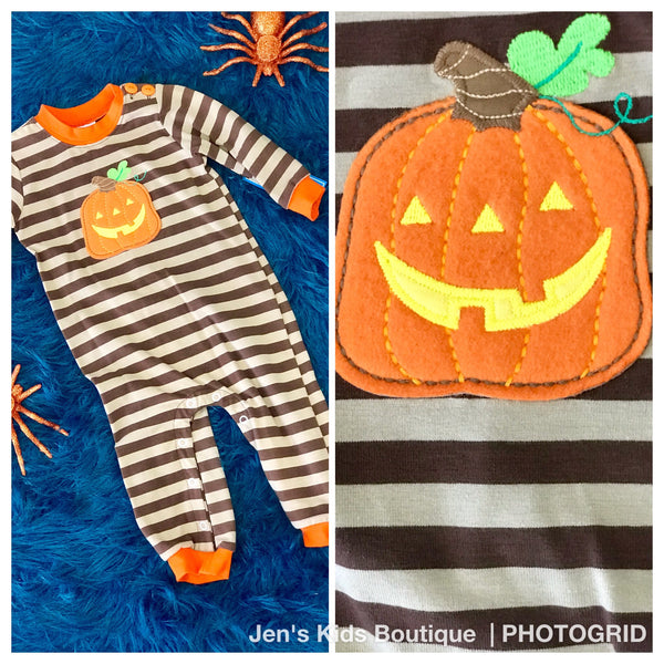 Boys Wally and Willie Stripped Pumpkin Longall H - JEN'S KIDS BOUTIQUE