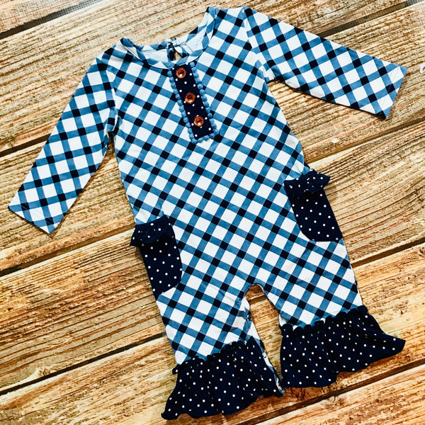 New Fall Swoon By Serendipity Frilly Pocket Longall - JEN'S KIDS BOUTIQUE