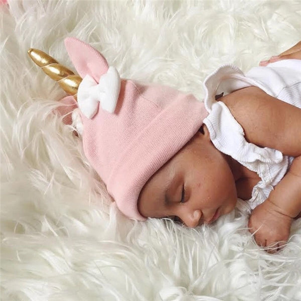 Infant to Toddler Unicorn Hat Pink - JEN'S KIDS BOUTIQUE