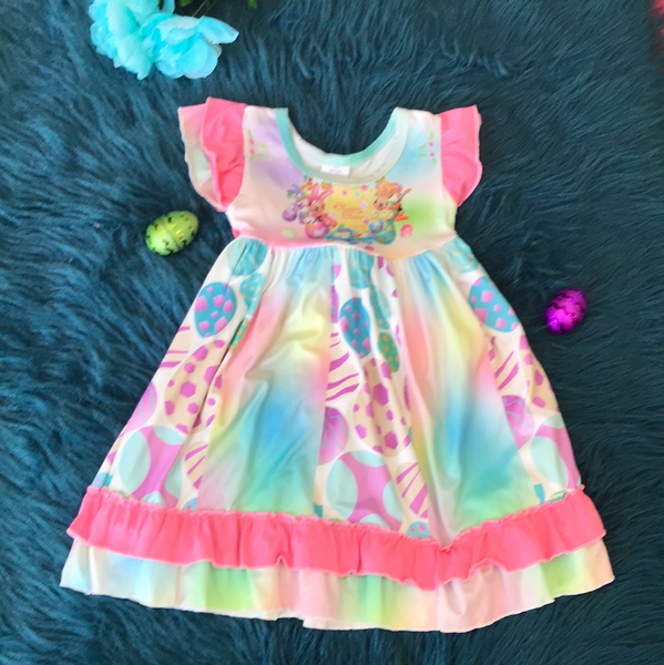Happy Easter Minnie & Mickey Dress - JEN'S KIDS BOUTIQUE