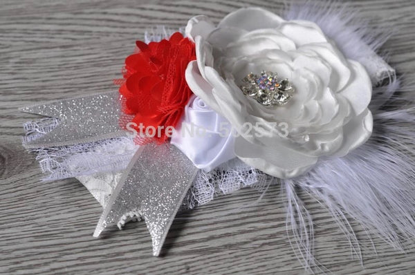 Layered Flower Rhinestone Handmade Headband - JEN'S KIDS BOUTIQUE