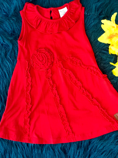 Milie Jay Red Sping Ruffle Dress - JEN'S KIDS BOUTIQUE