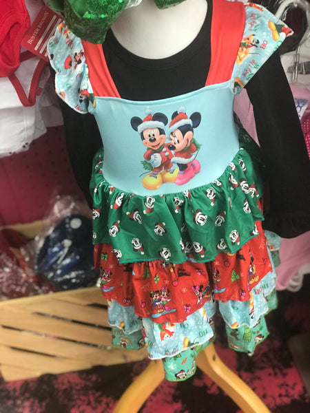 New Christmas Minnie & Friends Sleeveless Dress C - JEN'S KIDS BOUTIQUE