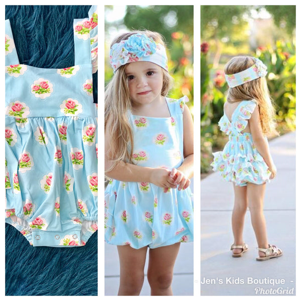 Swoon Baby Spring Prim Rose Easter Bubble Romper - JEN'S KIDS BOUTIQUE