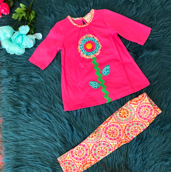 Spring Rare Editions Flower Legging Set ECL - JEN'S KIDS BOUTIQUE