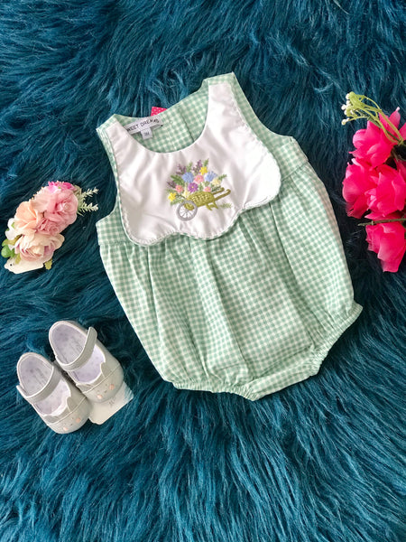 Spring & Summer Sweet Dreams Checkered Girls Romper - JEN'S KIDS BOUTIQUE