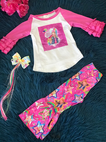 New Fall JoJo Siwa Everythings  Better With Bows Pants Outfit - JEN'S KIDS BOUTIQUE