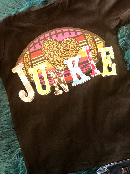 2018 Fall Football Junkie Youth Shirt - JEN'S KIDS BOUTIQUE