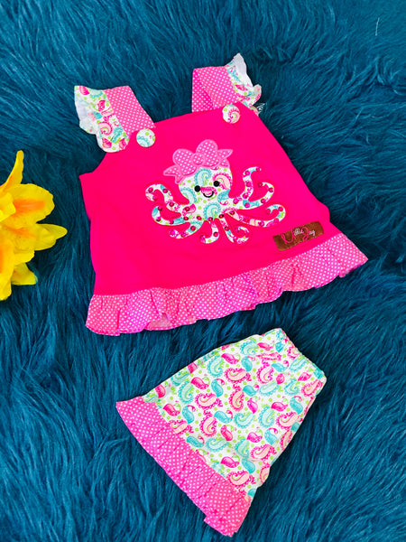 Millie Jay Ollie The Octopus Shorts Set - JEN'S KIDS BOUTIQUE
