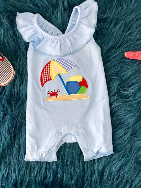 2019 Spring & Summer Girls Three Sisters Beach Ball Fun Romper - JEN'S KIDS BOUTIQUE