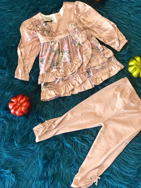 Fall Isobella & Chloe Seraphina Stunning Dusty Rose Pant Set CLF - JEN'S KIDS BOUTIQUE