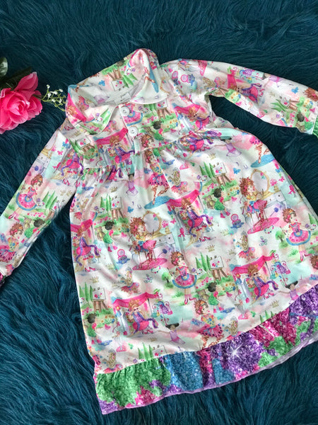 Christmas Girls Fancy Nancy Soft Cotton Gown - JEN'S KIDS BOUTIQUE