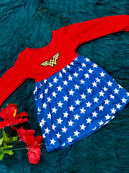 Who Loves Wonder Woman Fancy Dress - JEN'S KIDS BOUTIQUE