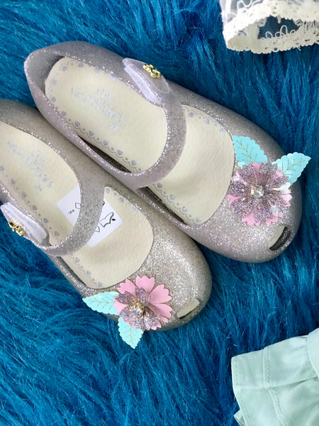 2019 Spring & Summer Fun Clear Flower Glitter Jelly Girls Shoes - JEN'S KIDS BOUTIQUE
