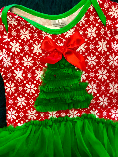 Christmas Tree Tutu Infant Onesie - JEN'S KIDS BOUTIQUE