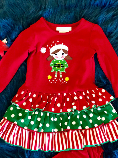 Festive Fun Christmas Elf Adorable Dress - JEN'S KIDS BOUTIQUE