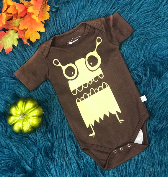 Rugged Butts Brown Owl Shortsleeve Onesie - JEN'S KIDS BOUTIQUE