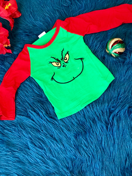 New Christmas Its A Grinch's Smile With Me Christmas Shirt C - JEN'S KIDS BOUTIQUE