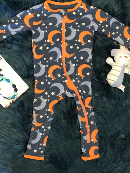 2018 Kickee Pants Twilight Moon & Stars Coverall With Zipper - JEN'S KIDS BOUTIQUE