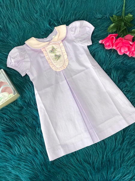 2019 Spring & Summer Love Me Purple Smocked Birds Dress - JEN'S KIDS BOUTIQUE