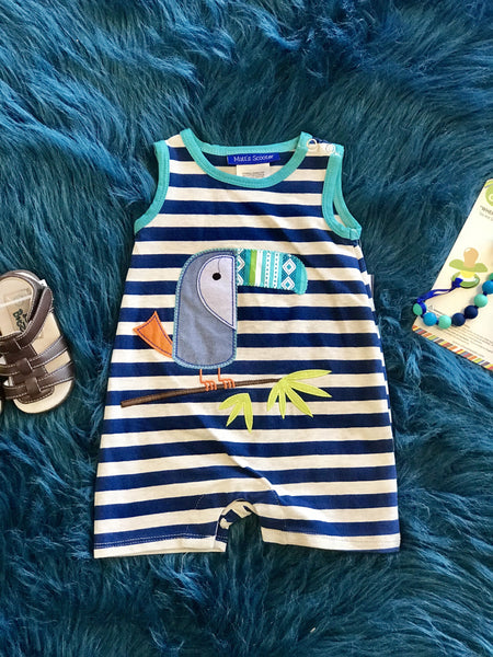 2018 Summer Boys Fun Parot Infant Romper - JEN'S KIDS BOUTIQUE