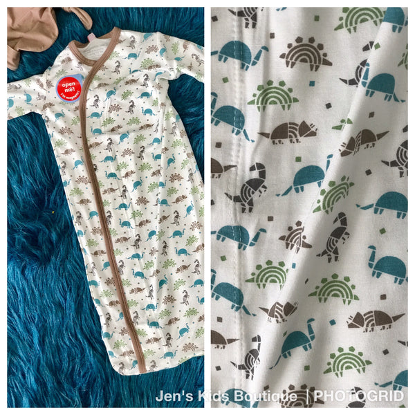 New Baby Magnetic Me Dinogami Modal Magnetic Gown Set - JEN'S KIDS BOUTIQUE