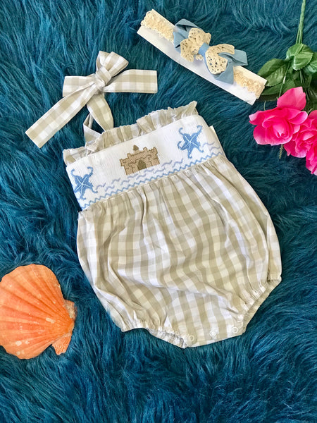 True Summer Sand Castle Beach Infant Bubble - JEN'S KIDS BOUTIQUE