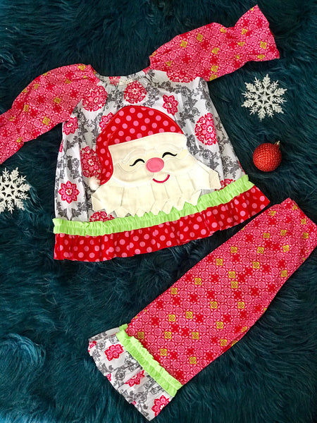 Millie Jay Christmas Santa Face Pant Set - JEN'S KIDS BOUTIQUE