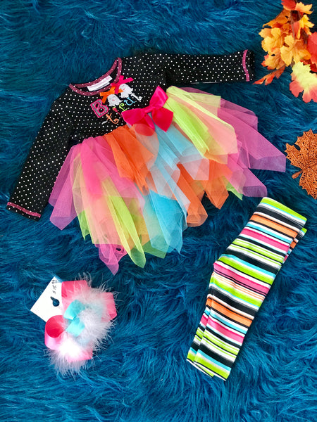 New Fall Boo Friends Halloween TuTu Set - JEN'S KIDS BOUTIQUE
