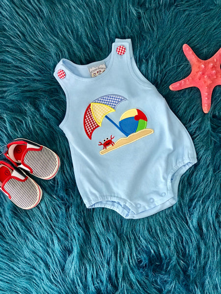 2019 Spring & Summer Boys Three Sisters Beach Ball Fun Bubble Romper - JEN'S KIDS BOUTIQUE