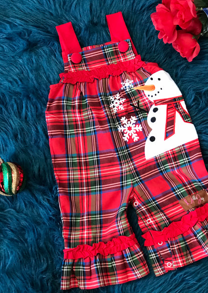 New Christmas Millie Jay Snowman App Jay Romper - JEN'S KIDS BOUTIQUE