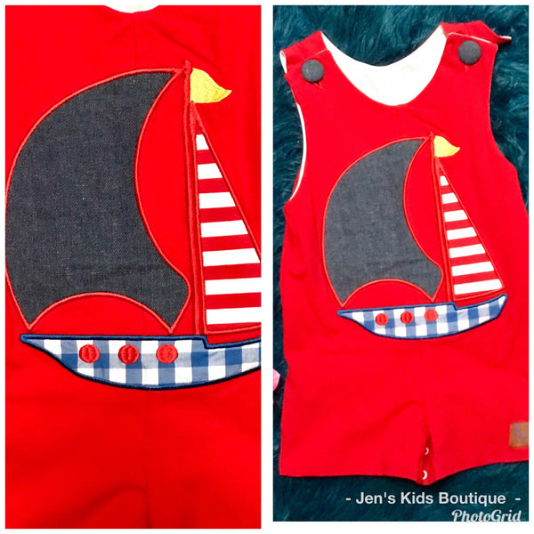 Millie Jay Boys Infant Sail Boat Romper - JEN'S KIDS BOUTIQUE
