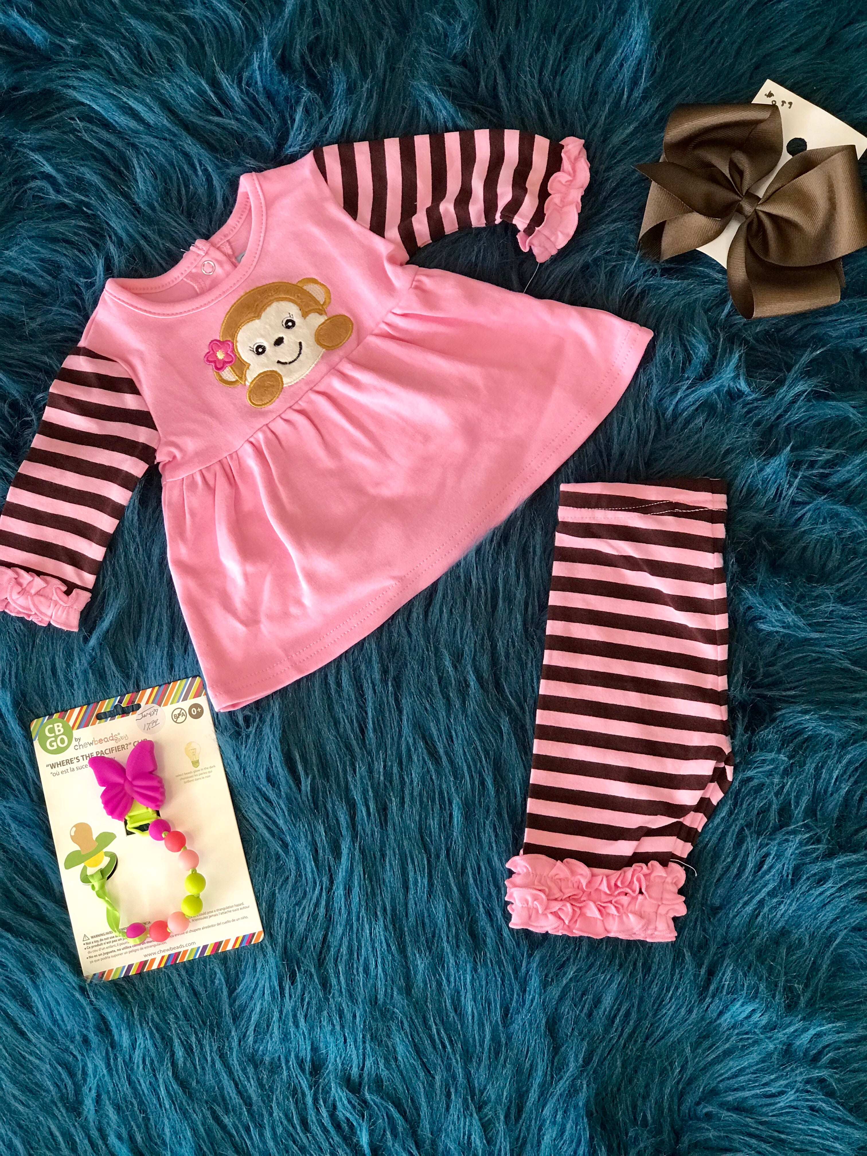 Three Sisters Mom N Bab Girl Set Pink White Rose Size 4t