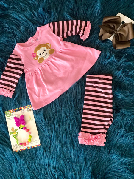 2018 Fall Three Sisters Monkeying Around Legging Set - JEN'S KIDS BOUTIQUE