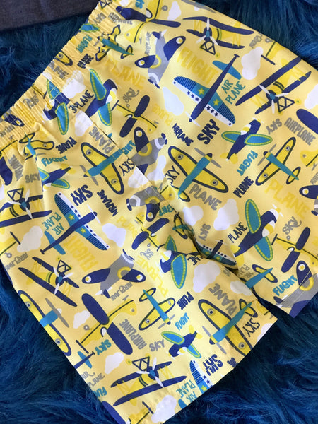 Summer Boys Be Loop Airplane Shorts Set - JEN'S KIDS BOUTIQUE