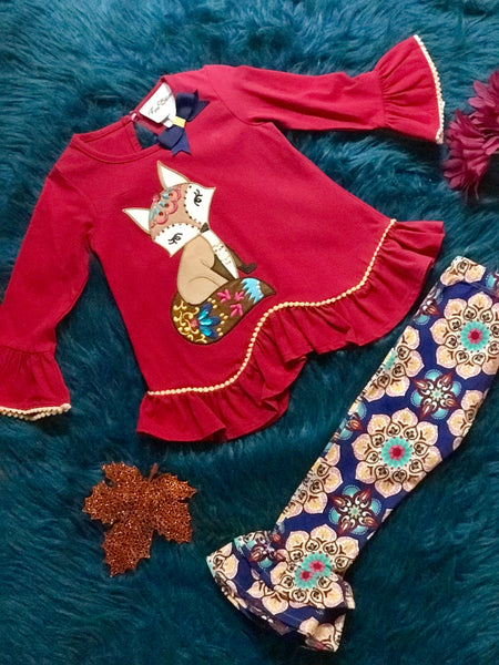 Rare E Fall Red Fox Pant Outfit - JEN'S KIDS BOUTIQUE