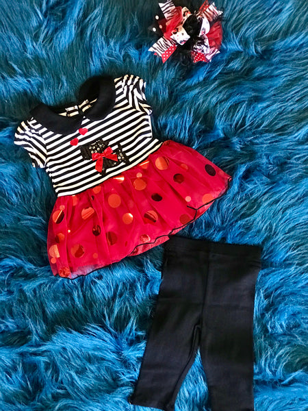 Cute As A Button Scottie Polka Dot TuTu Pant Set - JEN'S KIDS BOUTIQUE
