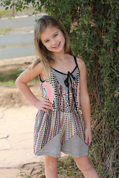Spring Kids Key Hole Front Designer Girls Romper - JEN'S KIDS BOUTIQUE