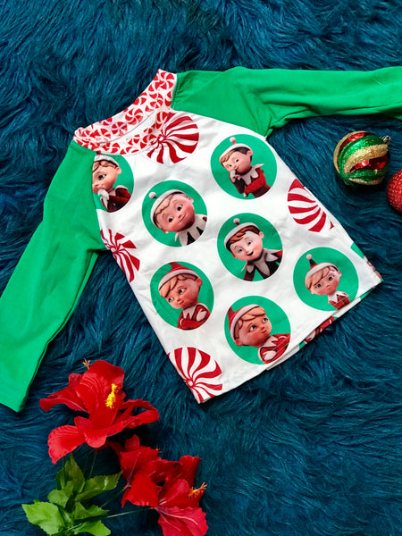 New Christmas Elf On The Shelf Peppermint Fun Shirt - JEN'S KIDS BOUTIQUE